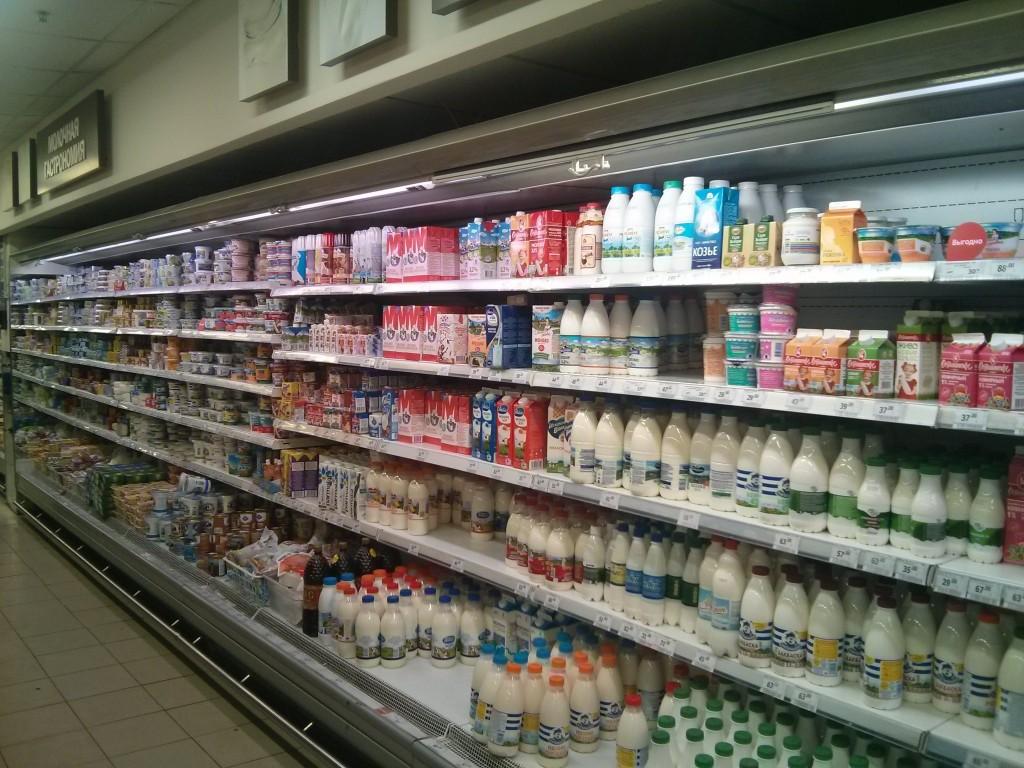 Produtos lácteos na Russia