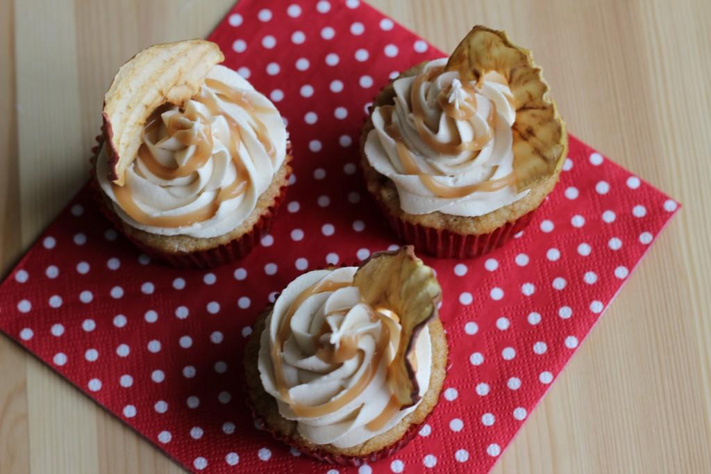 Cupcake de Maçã com Caramelo Salgado