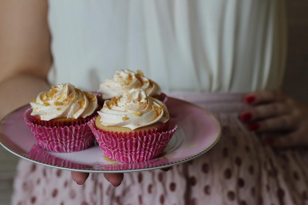 Cupcake de Lichia com Chá Branco